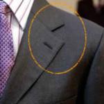 ノッチドラペルは定番ラペル。スーツからジャケパンスタイルまで幅広く使用されてるシンプルなラペル。