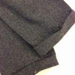 冬のズボンパンツの裾上げ。ウールパンツはダブルでやっぱりスナップボタン。